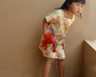 PDF Pattern - Iris Dress for 12M - 5T and tutorial.