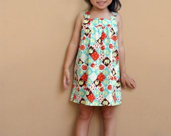 PDF Pattern - Perry Dress for 12M - 5T and tutorial.