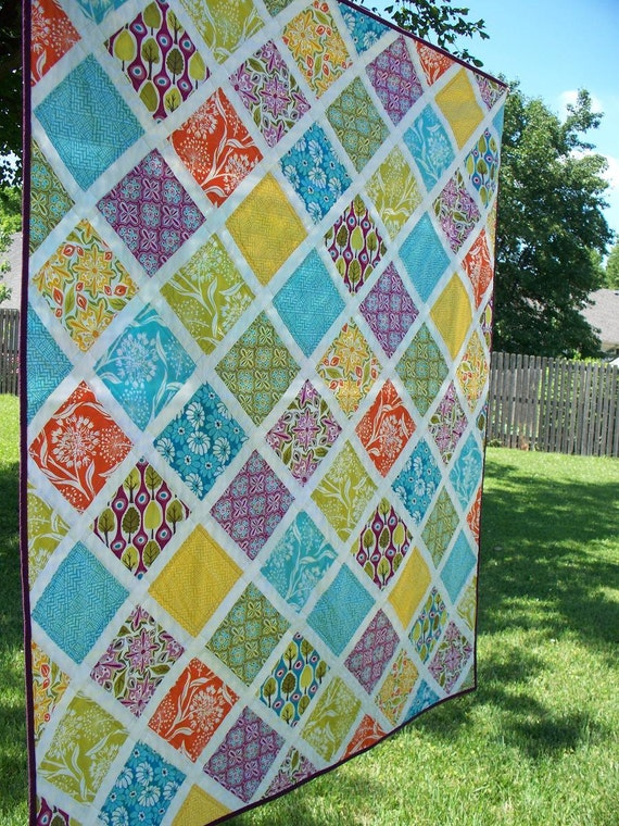 Central Park Garden Lattice Modern Quilt By Peaceloveandquilts