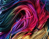 5 Yards BRILLIANT SUNSET Silky Soft Cord Hand Dyed