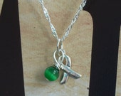 Mitochondrial Disease, Bipolar Disorder, Glaucoma Awareness Necklace - Sterling Silver