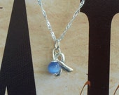 Prostate Cancer, Thyroid Disease, Scleroderma Awareness Necklace - Sterling Silver