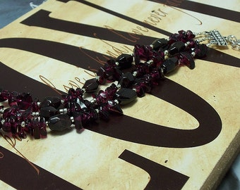 Sickle Cell Anemia, Multiple Myeloma Awareness Genuine Garnet Bracelet