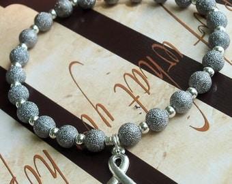 Parkinson's Disease, Dyslexia Awareness Silver Stardust Bracelet