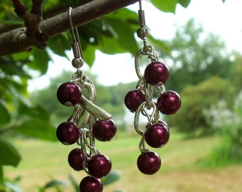 Sickle Cell Anemia, Meningitis, Multiple Myeloma, Aneurysm Awareness Cluster Earrings