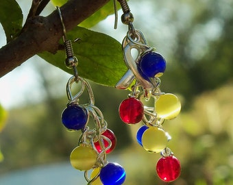 Asperger's Syndrome, PDD, Autism Awareness Cluster Earrings