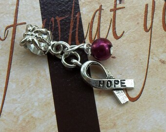 Sickle Cell Anemia, Multiple Myeloma Awareness Charm Bead or Pendant, European Style