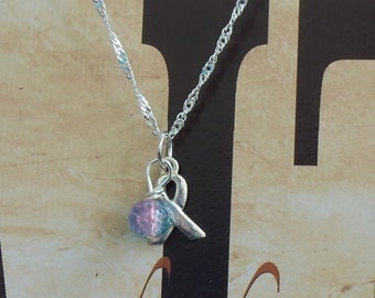 SIDS, Infertility, Miscarriage Awareness Necklace - Sterling Silver