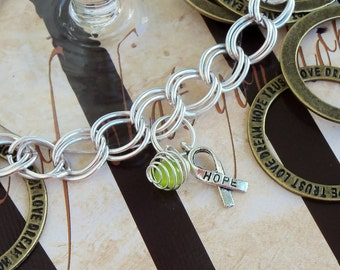 Lyme Disease, Babesia, Celiac Disease Awareness Charm Bracelet