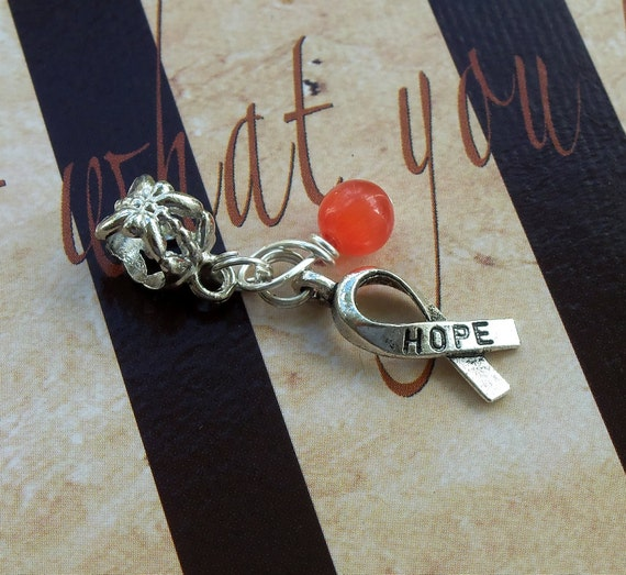 Leukemia, Psoriasis, MS Awareness Charm Bead or Pendant, European Style