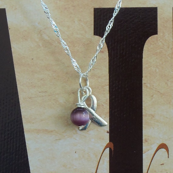 Lupus, Chiari, Alzheimer's, Fibromyalgia, Dravet Syndrome, Pancreatic Cancer Awareness Necklace - Sterling Silver