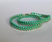 Double wrap bracelet in Mint