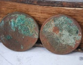 Set of 2 Imperial Russian copper coins, kopecks, kopeyka. Leo Tolstoy War and Peace. Unidentified  blank