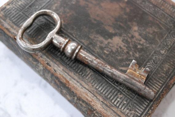 RESERVED for B till September 06.........Vintage steel skeleton key, old rustic patina