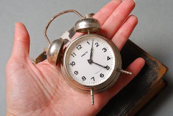 Vintage small alarm clock Raketa