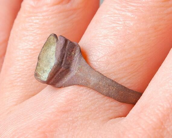 Antique brass primitive ring. Size 8