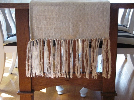 """Burlap Table Runner With Fringe 18""""x72"""", natural color"""