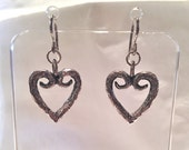 Sterling heart earrings. Magic begins with the power of Eros the heart-shaped sign from theIvatos Project.