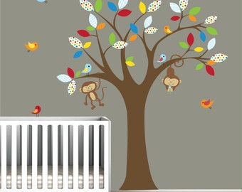 wall decals tree decal with monkeys nursery vinyl wall decals