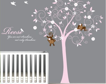 Wall Decals Vinyl Wall Decal Nursery Girl-e28