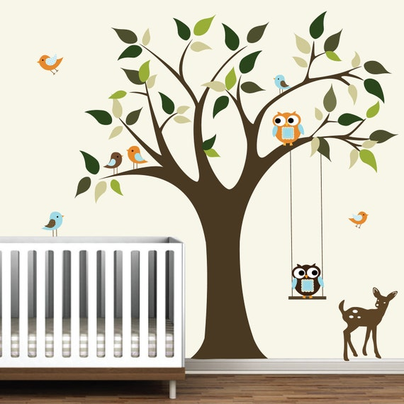 tree wall decalnursery wall decalsforestanimal stickers home wall stickers nursery showing 1 40 of 72 results