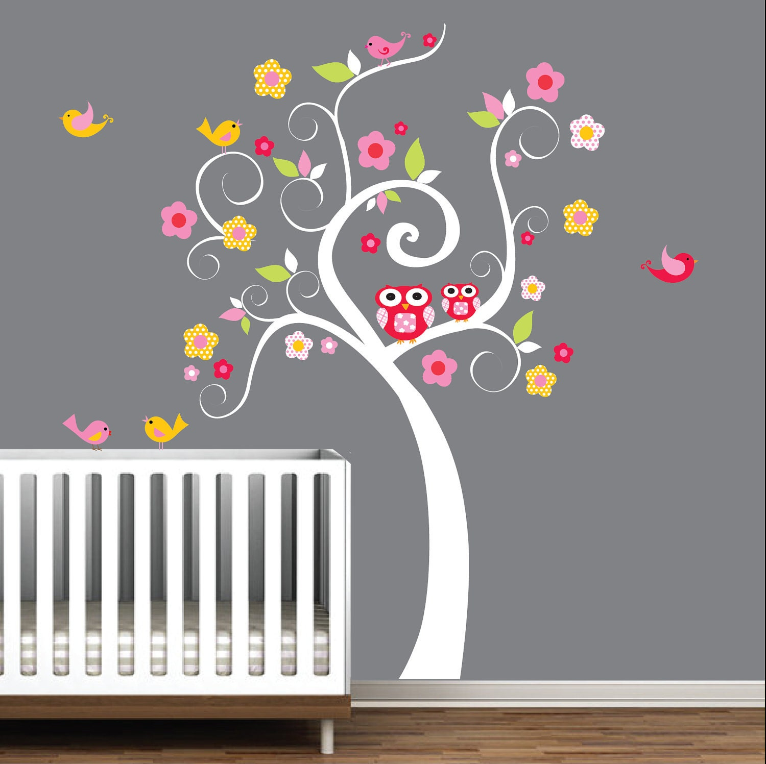 children wall decals nursery tree decal wall by modernwalls. Black Bedroom Furniture Sets. Home Design Ideas