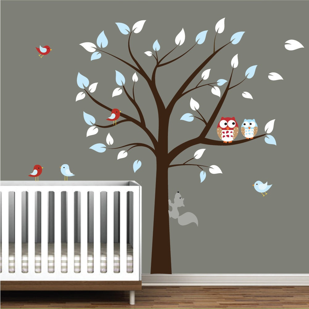 Children Vinyl Wall Decal Nursery Tree Wall Stickers With