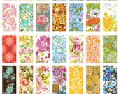 1 x 2 Domino Tiles Digital Collage Print Sheet - Floral