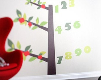Tree of Wisdom and Numbers Reusable Fabric Wall Decals by Pop & Lolli