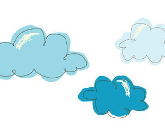 Cotton Candy Clouds Reusable Fabric Wall Decals by Pop & Lolli