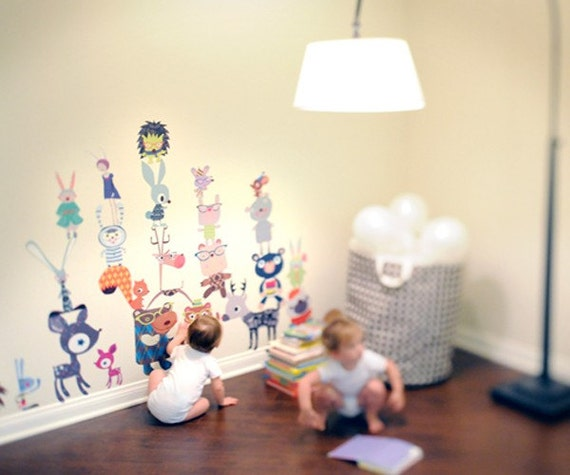 Fantasy Forest Critters Reusable Fabric Wall Decals by Pop & Lolli