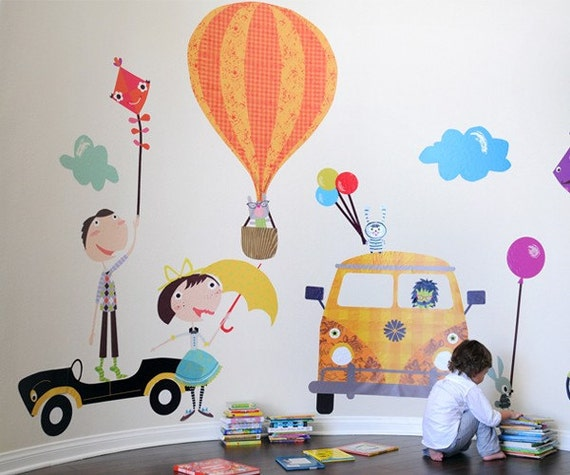 FUN Times Flight Accessories Reusable Fabric Wall Decals by Pop & Lolli