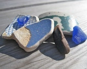 Authentic Sea Glass and Beach Pottery: Beach Blues