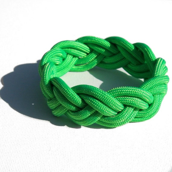 RESERVED for Shawn: Traditional Turks Head Sailor's Rope Bracelet - Double Braid, Green, Your Choice Size