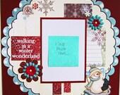 Premade Scrapbook Page 12 x 12 -Winter  Wonderland