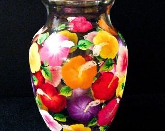 Hibiscus Flowered Vase