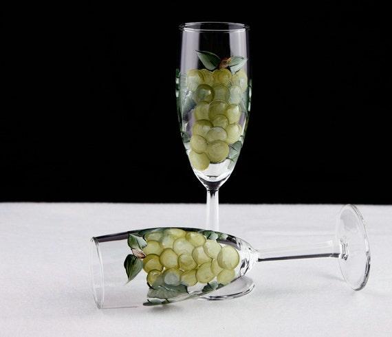 Grape Champagne Glasses
