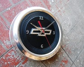 Chevy hubcap center cap clock for man cave