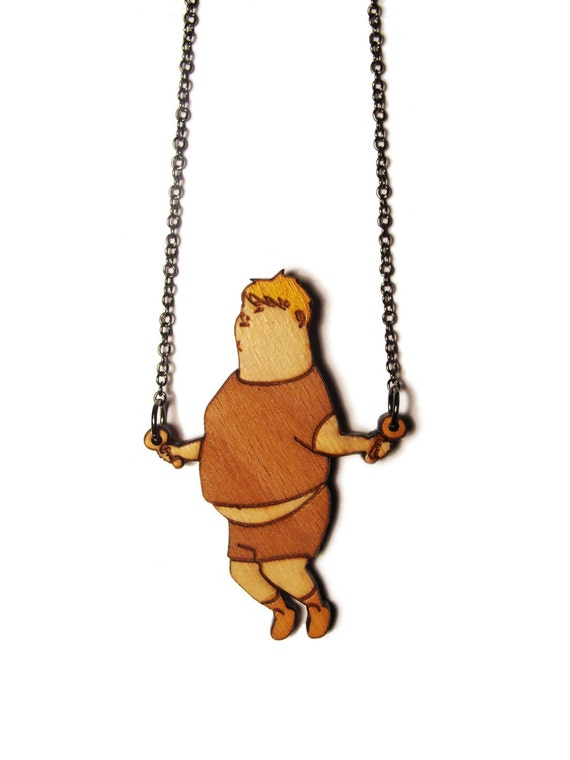 Skipping Boy Necklace - Laser Cut Hand Painted