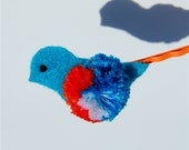 Bluebird of Happiness OOAK Bobby Pin in Electric Blue