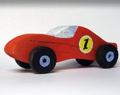 Wood Toy Car - boy's gift -The Red Champion