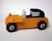 wood retro toy car - boy's gift - The Yellow one