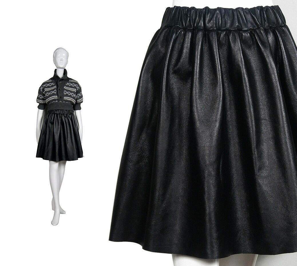 Black Skirt Leather