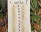 Hand made Greek olive wood lace bobbins