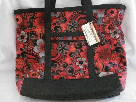 Project Tote Bag in Red and Black