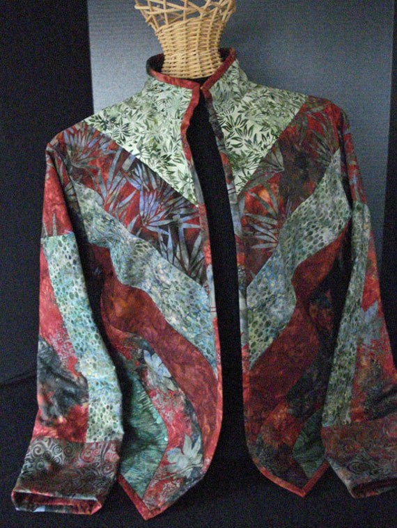 Quilted Jacket In Batiks