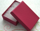 10 Dark Pink Jewelry Boxes Cotton Filled 3 1/8 x 2 1/8 x 1 inch