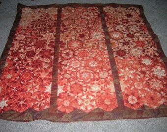 Peach Tree Quilt...Handquilted Full Sized Quilt