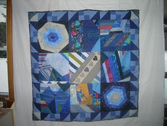 Blue Crazy Quilt