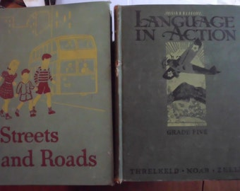 Vintage Schoolbooks, Language in Action and Streets and Roads